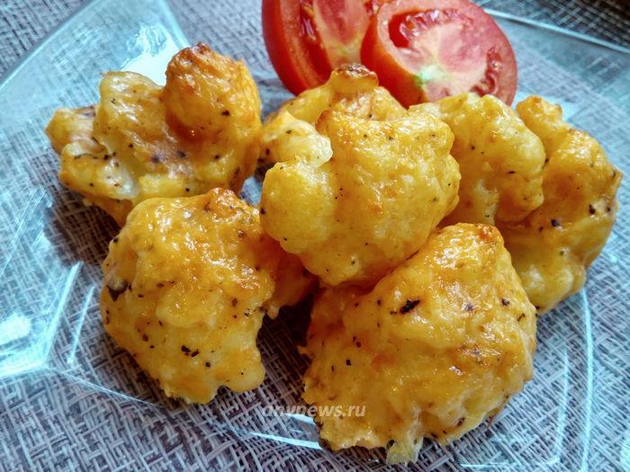 Цветная капуста в кляре в духовке - рецепт с фото