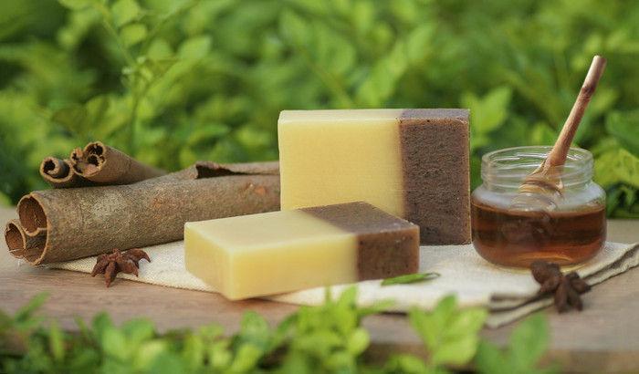 Мыло с корицей и медом