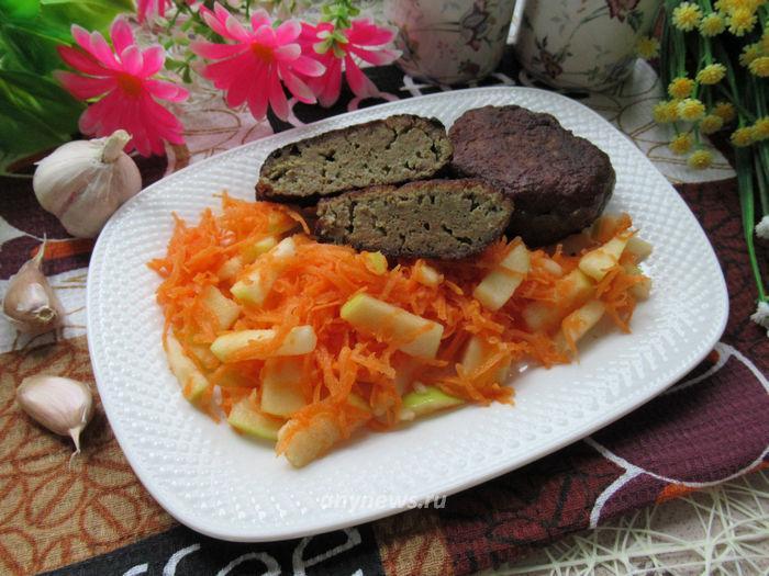 Котлеты из говяжьей печени на сковороде